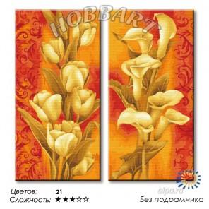 Количество цветов и сложность Дуэт в теплых тонах Раскраска по номерам на холсте Hobbart