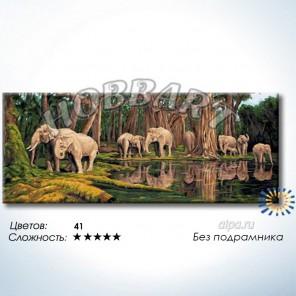Количество цветов ис ложность Индийские слоны Раскраска по номерам на холсте Hobbart