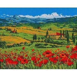 Поле красных маков Алмазная мозаика на подрамнике GF2169