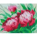 Розовые цветы Алмазная мозаика на подрамнике