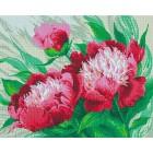 Розовые цветы Алмазная мозаика на подрамнике GF2174