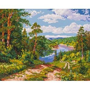 Дорога к реке Алмазная мозаика на подрамнике GF2117