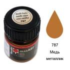 787 Медь металлик Краска по стеклу GlasArt Marabu