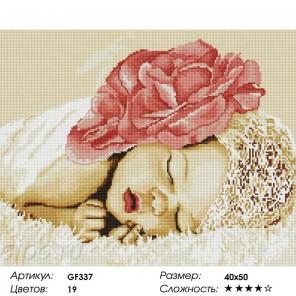 Сложность и количество цветов  Спящий ребенок Алмазная мозаика на подрамнике GF337