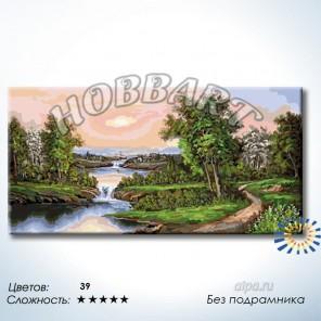 Количество цветов и сложность Перекаты и пороги Раскраска по номерам на холсте Hobbart DH60120019