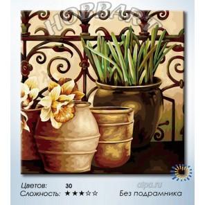 Количество цветов и сложность На веранде садовода Раскраска по номерам на холсте Hobbart