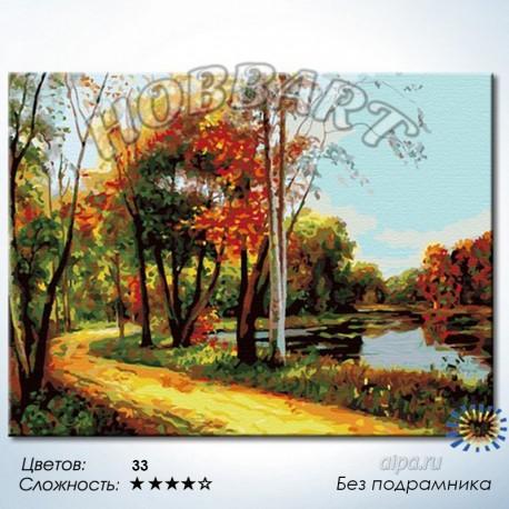 Количество цветов и сложность Лесной тропой Раскраска по номерам на холсте Hobbart