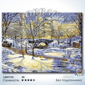 Количество цветов и сложность Зима в городе Раскраска по номерам на холсте Hobbart