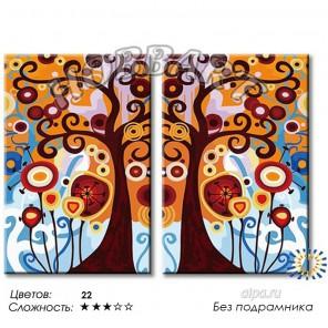 Количество цветов и сложность Дерево жизни Раскраска по номерам на холсте Hobbart