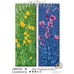 Количество цветов и сложность Лазурь и изумруд Раскраска по номерам на холсте Hobbart