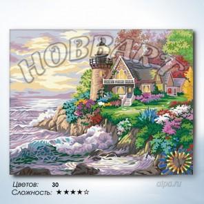 Количество цветов и сложность Маяк на краю света Раскраска по номерам на холсте Hobbart HB4050315