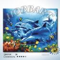Дельфинотерапия Раскраска по номерам на холсте Hobbart