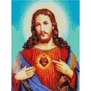 Иисус Христос Алмазная мозаика на подрамнике EF437