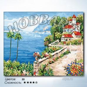 Количество цветов и сложность Южный берег Раскраска по номерам на холсте Hobbart HB4050213
