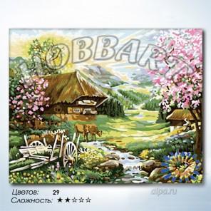 Количество цветов и сложность Розовый рассвет Раскраска по номерам на холсте Hobbart HB4050219