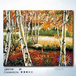 Количество цветов и сложность Осенняя роща Раскраска по номерам на холсте Hobbart HB4050220