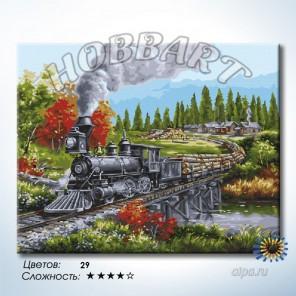 Количество цветов и сложность На всех парах Раскраска по номерам на холсте Hobbart HB4050375