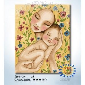 Количество цветов и сложность Счастье матери Раскраска по номерам на холсте Hobbart HB4050365-LITE