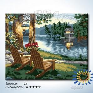 Количество цветов и сложность Отдых в тишине реки Раскраска по номерам на холсте Hobbart HB4050370-LITE