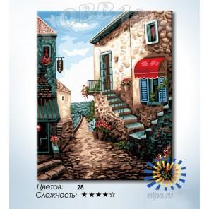 Количество цветов и сложность Улица у моря Раскраска по номерам на холсте Hobbart HB4050269-LITE