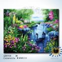 Количество цветов и сложность Цветущие берега Раскраска по номерам на холсте Hobbart HB4050280-LITE