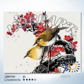 Количество цветов и сложность Весеннее настроение Раскраска по номерам на холсте Hobbart HB4050024