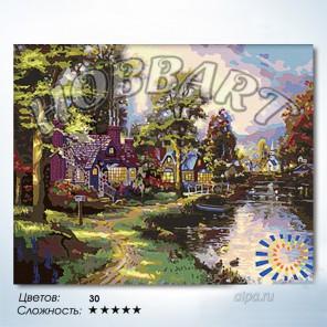 Количество цветов и сложность Вдоль линии света Раскраска по номерам на холсте Hobbart HB4050030