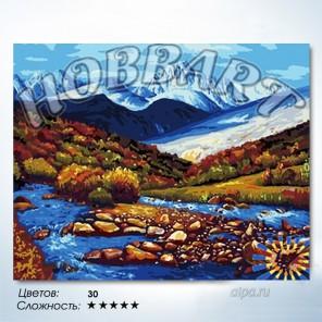 Количество цветов и сложность Горная речка Раскраска по номерам на холсте Hobbart HB4050031