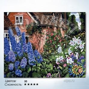 Количество цветов и сложность Роскошный сад Раскраска по номерам на холсте Hobbart HB4050041