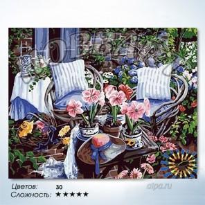 Количество цветов и сложность На уютной веранде Раскраска по номерам на холсте Hobbart HB4050046