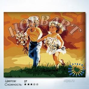 Количество цветов и сложность Детский смех Раскраска по номерам на холсте Hobbart HB4050050