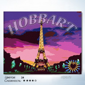 Количество цветов и сложность Мечта Раскраска по номерам на холсте Hobbart HB4050064