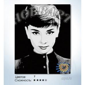 Количество цветов и сложность Одри Хепберн Раскраска по номерам на холсте Hobbart HB4050068