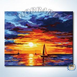 Вечная красота заката Раскраска по номерам на холсте Hobbart HB4050076