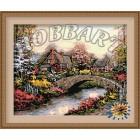 В рамке По каменному мостику Раскраска по номерам на холсте Hobbart HB4050079