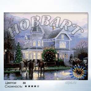 Количество цветов и сложность В преддверии праздника Раскраска по номерам на холсте Hobbart HB4050080