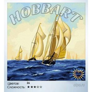 Количество цветов и сложность На всех парусах Раскраска по номерам на холсте Hobbart HB4040018