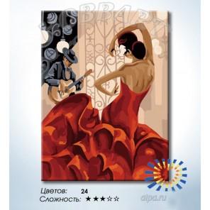 Количество цветов и сложность Фламенко Раскраска по номерам на холсте Hobbart