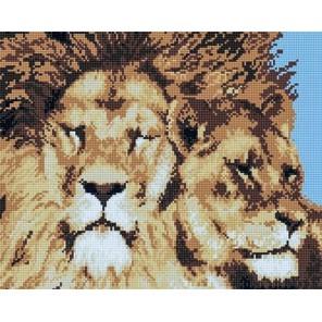 Львы Алмазная мозаика на подрамнике