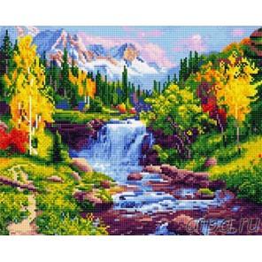 Горная река Алмазная мозаика на подрамнике