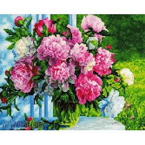 Букет в саду Алмазная мозаика на подрамнике