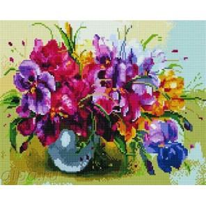 Цветы в вазе Алмазная мозаика на подрамнике