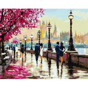 Романтичный Лондон Алмазная мозаика на подрамнике