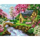 Ручей у дома Алмазная мозаика на подрамнике