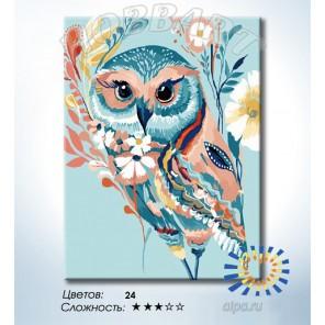 Количество цветов и сложность Сказочная сова Раскраска по номерам на холсте Hobbart HB3040167-LITE