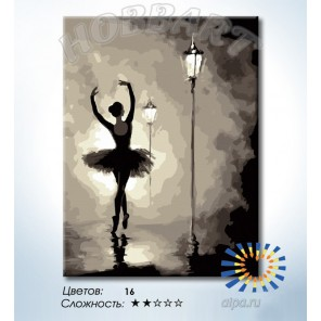Количество цветов и сложность Танец в свете фонарей Раскраска по номерам на холсте Hobbart HB3040169-LITE
