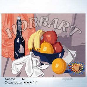 Количество цветов и сложность Фруктовая Раскраска по номерам на холсте Hobbart HB3040001