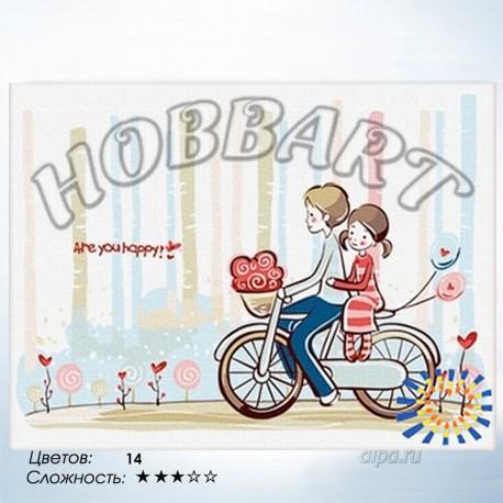 Количество цветов и сложность С ветерком Раскраска по номерам на холсте Hobbart HB3040021