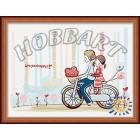 В рамке С ветерком Раскраска по номерам на холсте Hobbart HB3040021