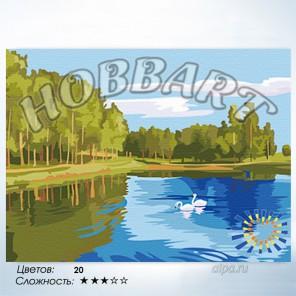 Количество цветов и сложность Зеркальная гладь Раскраска по номерам на холсте Hobbart HB3040035